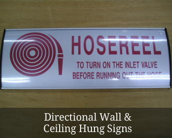 Directional Wall & Celing Hung Signs