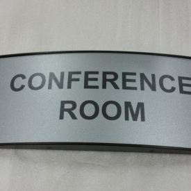 Curved Conference Sign